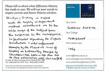 What did studying history at Oxford mean to you? / We asked our alumni:  'What difference has studying History made to you?'