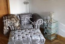 House of Sparkles Sofa Collection / Gorgeous bespoke sofa's at affordable prices! You won't find anything like this on the high street!  Available in ALL colours too! Want this look? Call us on 0118 912 1090 or visit our website.  www.houseofsparkles.co.uk