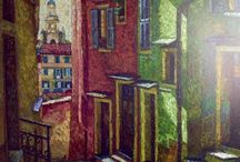 Paintings of Towns and Cities / Lovely architecture, colours. lighting, interesting viewpoints. Some of my fave town and city paintings.
