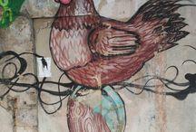 Street Art cerca de Spaint / Artistas urbanos que decoran las proximidades de Spaint
