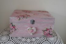 Shabby chic wooden boxes