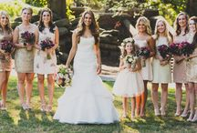 """Bridesmaids! / When it comes time to say """"I Do!"""" It's important to have your girls by your side! Here are some of our favorite bridesmaids looks. From elegant gowns to flower crowns get inspired! Some from Soirée By Sourlete weddings!"""