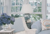 Courted cushions on chairs