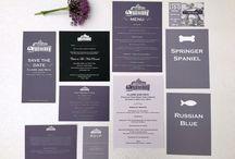 Retro Press Bespoke Weddings / Custom designed wedding stationery.