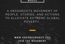 One Day's Wages Inspiration / Quotes, photos, and stories for your daily inspiration.
