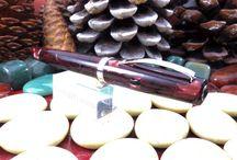Omas Special Red Celluloid Bologna Fountain Pen.
