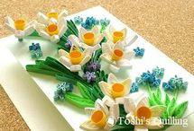 クイリング:冬の花