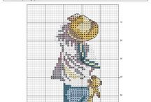 cross stitch child