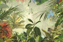 Jungle behang