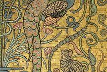 Mozaik, falfestés
