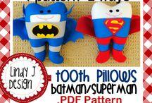 dientes fieltro super heroes