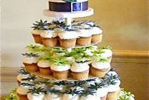 Wedding Cupcakes & Cupcake Towers / Don't like the idea of serving a cake at your wedding? Take a look at some of these fun yet fancy cupcake ideas from our favourite real weddings.