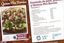 Recetas con Quinoa Mix / Encuentra deliciosas recetas para preparar con tus Quinoa Mix Cacao y Quinoa Mix Berries