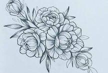 Цветы татуировки рисунки