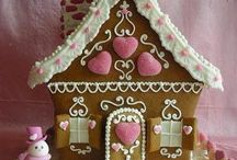 Gingerbread Houses / Everything made out of Gingerbread  / by Kim Mitchell