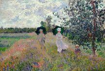 Claude Monet-'''ojciec impresjonizmu francuskiego'' / Obrazy inspirowane  ogrodem  kwiatowym  Moneta w nieruchomości wiejskiej  w Giverny,