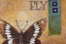 Mixed Media by Toni Kelly / Original Mixed Media Art using acrylics, transfers and collage.