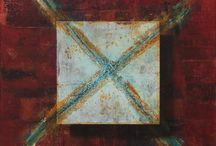 Stephane RUPP / My art work Abstract painting and rust on metal