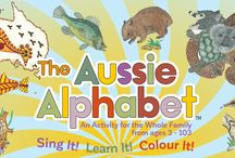 The Aussie Alphabet Activity Set & Song / The Aussie Alphabet is a multi sensorial kit that enables the child or adult to use their hand to colour, ears to listen, eyes to read, mind to create and perhaps bodies to dance.