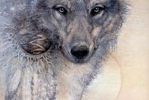 Wolves / Beautiful art and photos of wolves