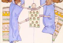 Caricaturas de maternidad