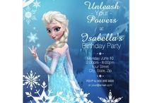 FROZEN Birthday Party Invites - Anna, Elsa & Olaf / Disney's Frozen Movie, Anna, Else & Olaf are popular with kids of all ages. What little girl wouldn't want a Frozen Birthday party?