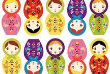 Babushka Dolls / by Cathy Childs Morrison