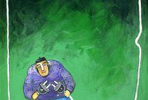 Cartoons & Satirical drawing by Miroslaw Hajnos