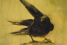 Crow oil paintings / oil paintings of crows by David Ladmore