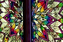 Color glass stained windows
