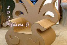 meuble en carton et en bois