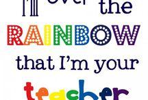Rainbow colour classroom