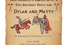 Knight & Princess Party / Idee per la festa medievale di Martina e Ale