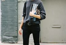 SWEATSHIRT + JEANS / SWEATER + JEANS - TREND - HOW TO WEAR / How to wear a sweater or sweatshirt with jeans. Perfect transitional outfits, transition to fall transition to spring. the wrap skirt trend.  Currently trending for F/W2014 , Fall 2014 2015, Spring 2015 SS2015, Winter 2015, Winter 2014, A/W , A/W2014, A/W2015, 14/15.  Part of the http://reasonstodress (Reasons to Dress .com) series on mom style and mom outfit inspiration.  Outfit inspiration sweatshirt and boyfriend jeans.   / by reasonstodress