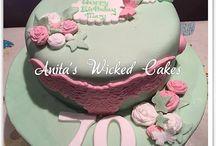 70th vintage cake