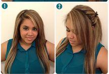 hår frisyre/oppsett
