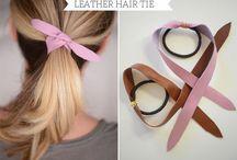 Leer hair bands