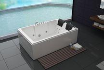 Bathroom design ideas / Avec Cosy-tendance, Accédez à la balnéothérapie et tous ses bienfaits chez vous, dans votre salle de bain, avec leurs formes , les baignoires balnéo s'adaptent à tous les espaces et leurs technologies vous étonneront : jets hydromassants, chromothérapie...