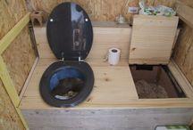 inspiration toilettes sèches / idées de toilettes sèches intérieures et extérieures DIY