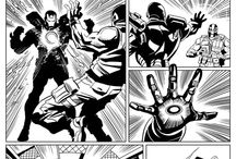 War Machine / I revisited War Machine a while back in this strip for Marvel Heroes that Panini published.