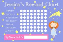 Reward Charts / Different ideas for kids reward charts. Can be personalised by child and interest to theme the chart :-) email contact@jeccabox.co.uk for more info!