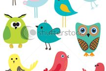 For the birds ... / Drawing , birdhouses, treats , feeders , baths and more