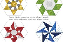 Hexagon Quilts / Print hundreds of perfect hexagons on fabric (or on paper for templates) in a few minutes and spend your time stitching instead of basting and prepping. It's more portable and more fun. All kinds of hexagons are easier with Inklingo.