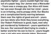 Harry potter vs twilight (even though not all this stuff is on twilights side I am)