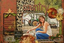 Page scrapbooking country