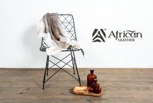 Becerros African-Leather / Decoración para el hogar African-Leather.  Becerros de cuero de bovino en pelo.