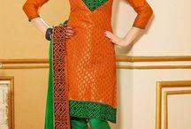 Chanderi Silk Salwar Suits / Designer Chanderi Silk Salwar Suit with Embroidered work