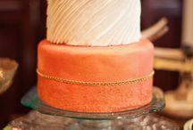 Citromsárga és narancssárga torták