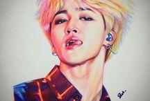 _ random kpop art