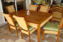 Teakwood Furniture for Indoors or Outdoors / We love solid all natural Teakwood furniture!